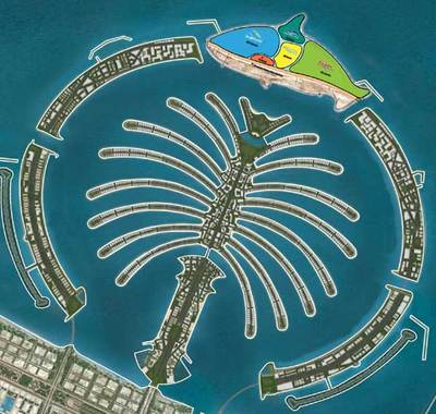 Man Made Islands Palm Tree Busch entertainment and nakheel announces