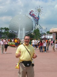 Fanny Pack Tourist at Epcot in Feb 2007