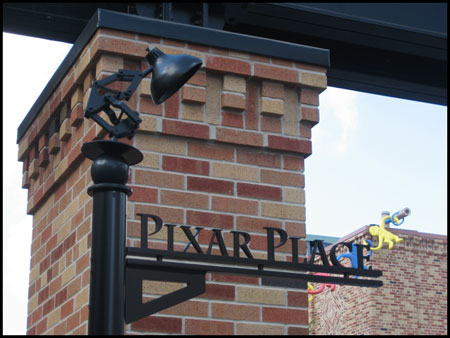 Pixar Place Street Sign with Luxo Jr. at Disney\'s Hollywood Studios