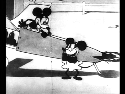 "Mickey Mouse in ""Plane Crazy"" the first film made with Mickey in it"