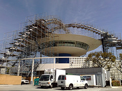 LAX THeme Building under repair