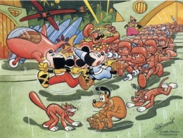 Floyd Gottfredson Mickey Mouse paintings.