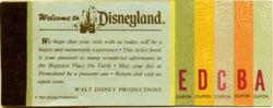 Disneyland Ticket Book