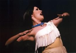 Eden Espinosa as Pocahontas at Disneyland
