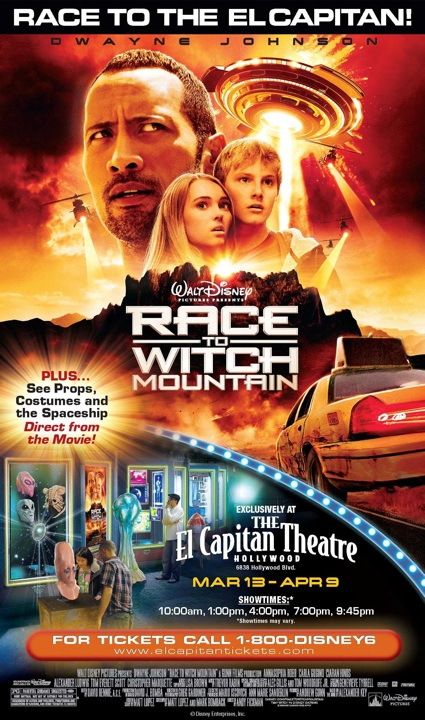Race to Witch Mountain at El Capitan, Hollywood, CA