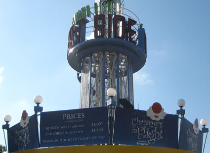aerophile ticket booth with prices