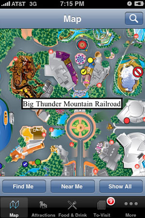 Disneyland iphone app