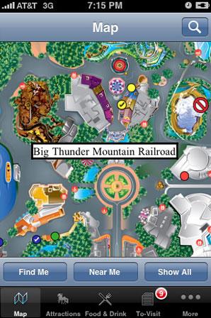 Disneyland iPhone App makes your trip easier via Community ... on disney world map app, disneyland street map, six flags map app,