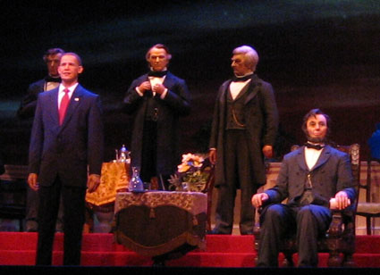 Disney Vacation Tips: When it's hot, check out indoor attractions like Disney's Hall of Presidents.