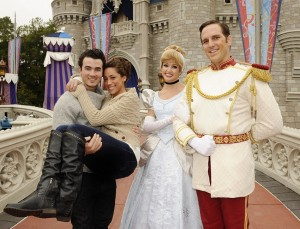 KEVIN AND DANIELLE JONAS CELEBRATE FIRST WEDDING ANNIVERSARY AT DISNEY WORLD IN FLORIDA
