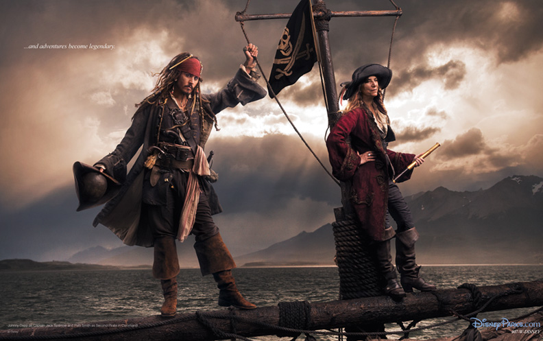 Annie Leibovitz captures Johnny Depp as Captain Jack ...