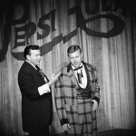 Fulton Burley and Wally Boag at Disneyland's Golden Horseshoe Revue
