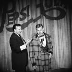 Fulton Burley and Wally Boag at Disneyland's Golden Horseshoe Revue