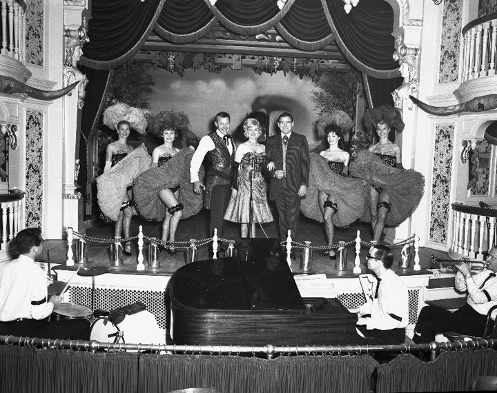 An early cast photo of Disneyland's Golden Horseshoe Revue