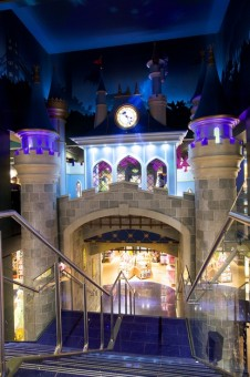 The princess castle in the middle of the new Disney Store in London