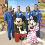 DOUG HURLEY, CHRIS FERGUSON, MICKEY MOUSE, SANDY MAGNUS, REX WALHEIM, MINNIE MOUSE