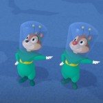 MOON MEN CHIP AND DALE