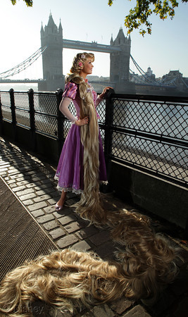 Rapunzel in front of Tower Bridge