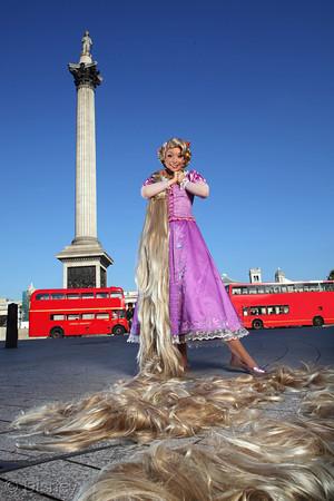 Rapunzel in Trafalgar Square