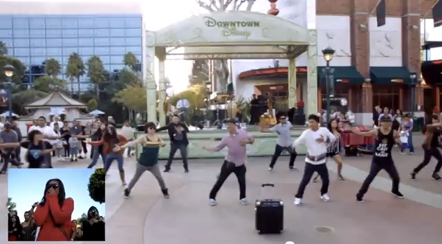 Downtown Disney Dance Flash Mob Marriage Proposal Viral Video The