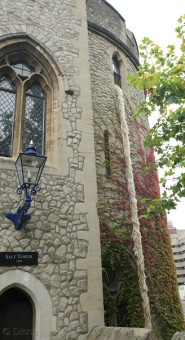 Rapunzel's hair falling from the Tower of London