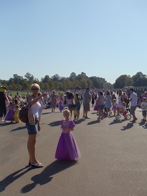 Many people turned up for the free procession through Hyde Park