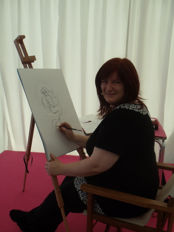 A Disney animator drawing Ariel