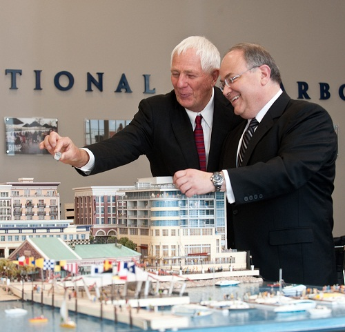 CFO Jay Rasulo looks over a Disney project in Washington DC that never came to be