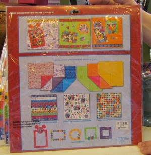 Scrapbook kit for 2012 is out. Here's the back. It's quite reasonably priced too.