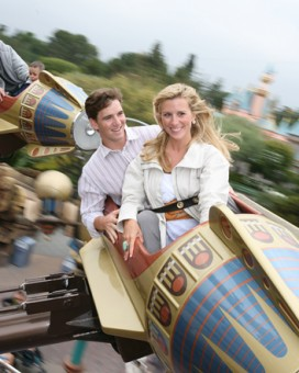 Eli Manning and Wife Abby McGrew at Disneyland in May 2008