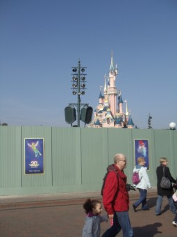 The tents in front of the castle have been removed
