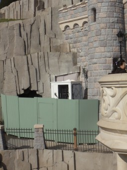 The smaller of the currently set-up control rooms near the castle