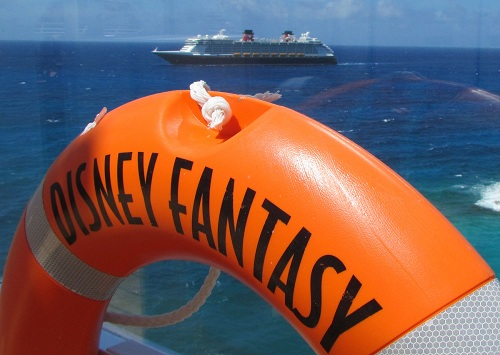 Disney Dream as seen from the Disney Fantasy