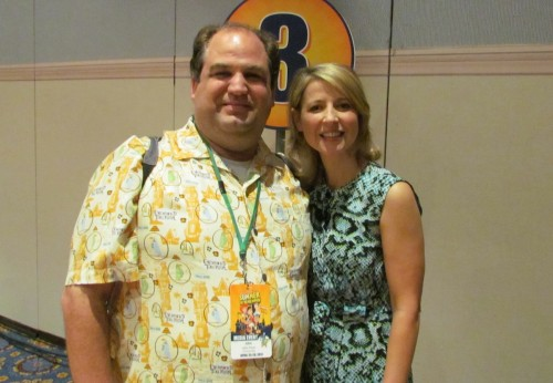 Disney Blogger John Frost with the Travel Channel's Samantha Brown