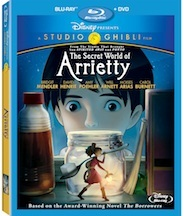 The Secret World of Arrietty DVD - Bluray