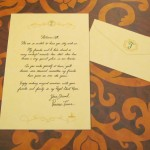A letter from Tiana greets guests