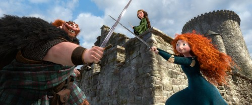 KING FERGUS, QUEEN ELINOR and MERIDA - Pixar's Brave
