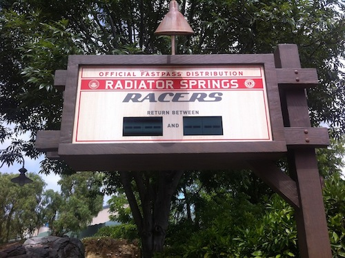 Radiator Springs Racers Fastpass