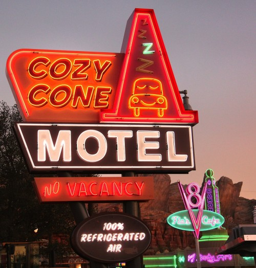 Cozy Cone Motel Neon Sign