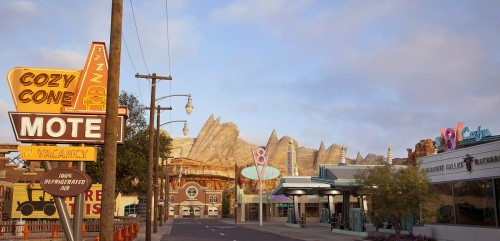 Ornament Valley, the setting for Radiator Springs Racers