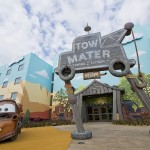 Tow Mater themed entrance.