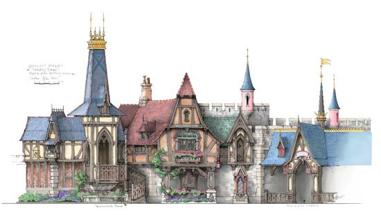 Disneyland Fantasy Faire Concept Art The Disney Blog
