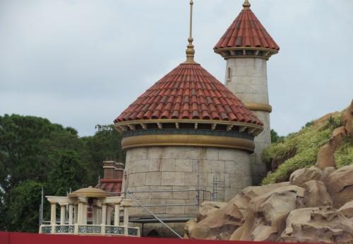 Magic Kingdom New Fantasyland Update - Prince Eric's Castle