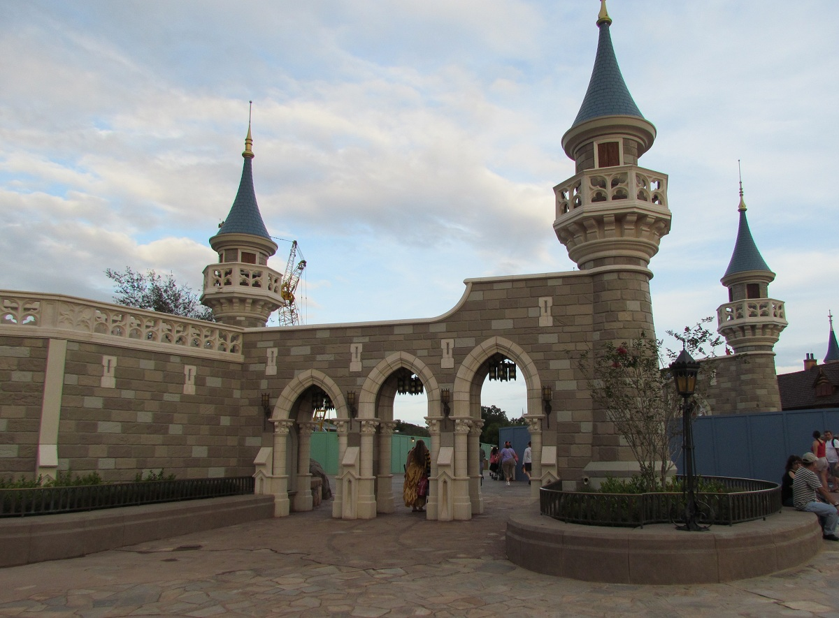 Magic Kingdom New Fantasyland Update - Wall