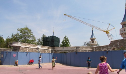 Magic Kingdom New Fantasyland Update - Walls