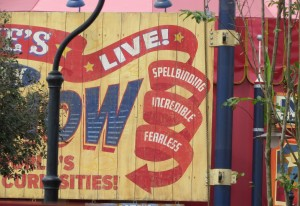 Magic Kingdom Storybook Circus Update - Sideshow sign