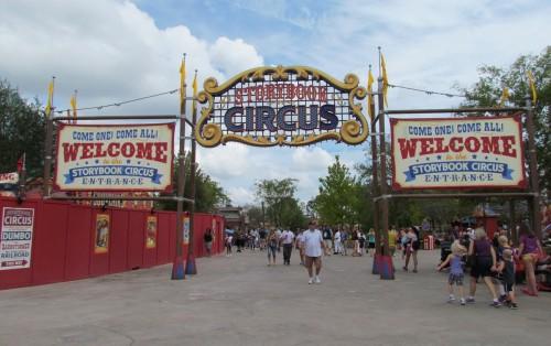 Magic Kingdom Storybook Circus Update - Marquee