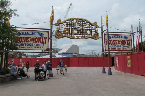Magic Kingdom Storybook Circus Update - Marquee