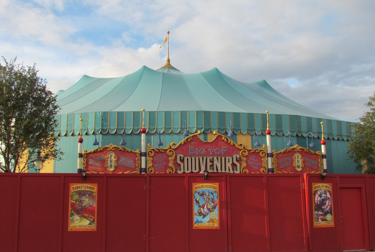 Magic Kingdom Storybook Circus Update - Tent Store Sign