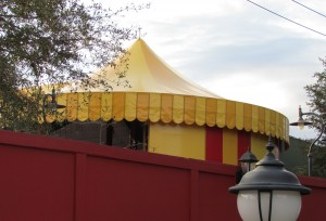 Magic Kingdom Storybook Circus Update - Sideshow sign